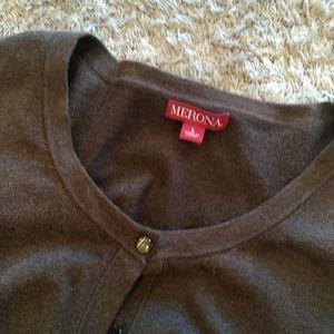 Brown Merona cardigan size large